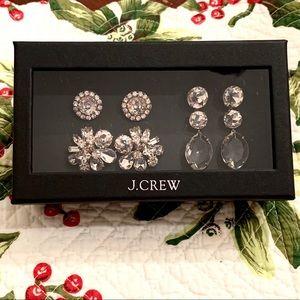 J Crew Bold Gems Boxed Earrings Set